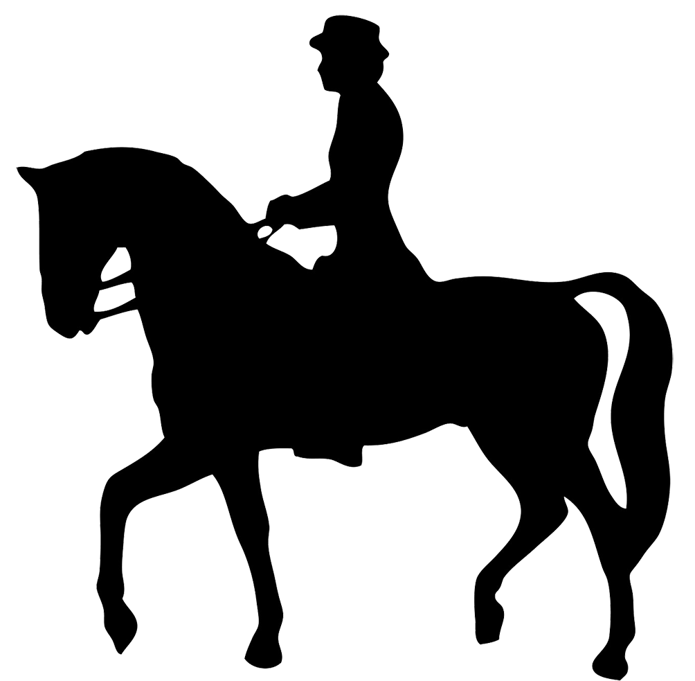 horse rider silhouette clipart