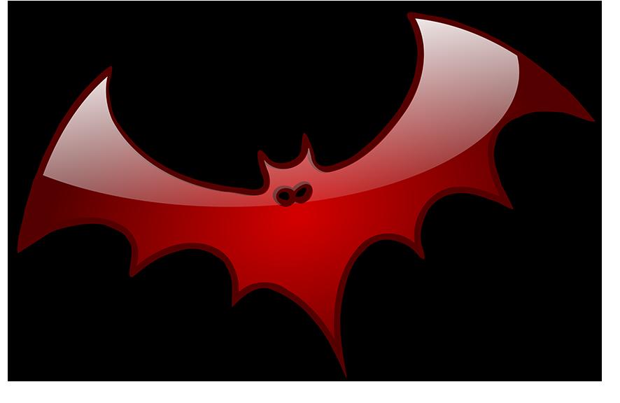 shiny red bat graphics