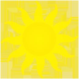 sun clip art with yellow sun rays