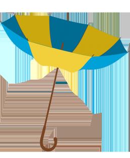 umbrella turned outside in