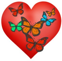butterfly heart for Valentines day
