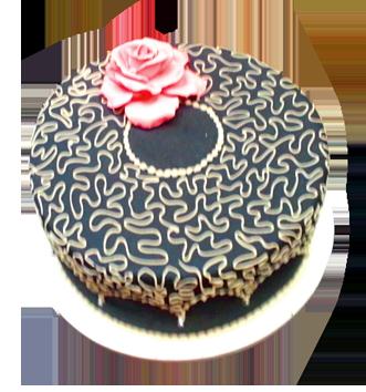 round wedding cake with swirls