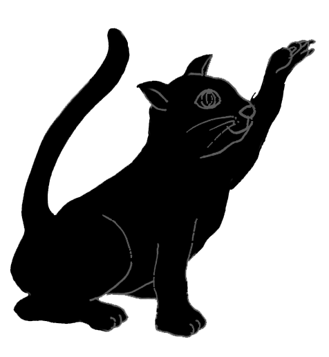 silhouette of hunting cat