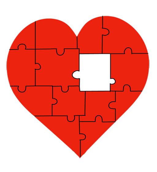 valentine heart jigsaw