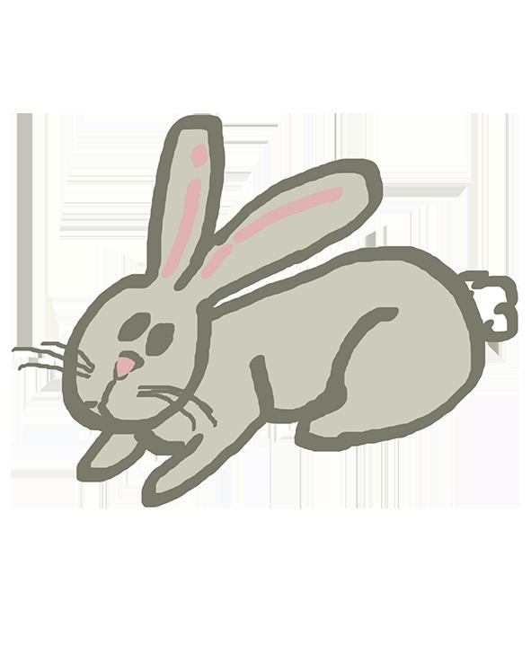 Grey Easter rabbit