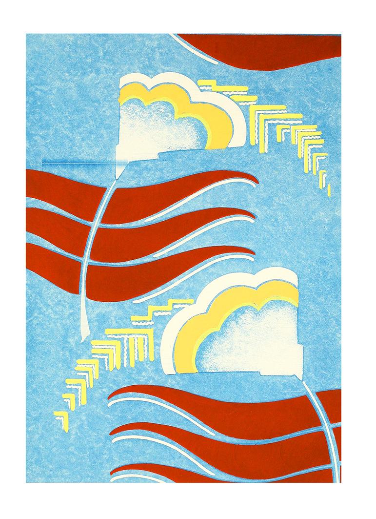 art deco poster pattern