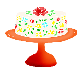 birthday cake clip art cake with rose