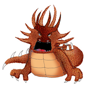 dragons drawings cool fire dragon