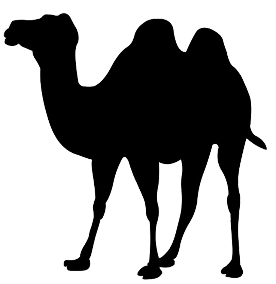 silhouette clip art of camel