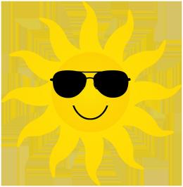 yellow sun sunglasses cartoon