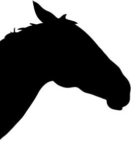 head of racing horse silhouette