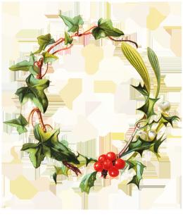 Frame holy mistletoe ivy