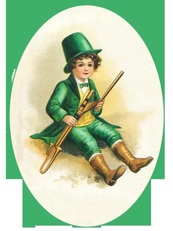 St. Patrick's Day boy in green