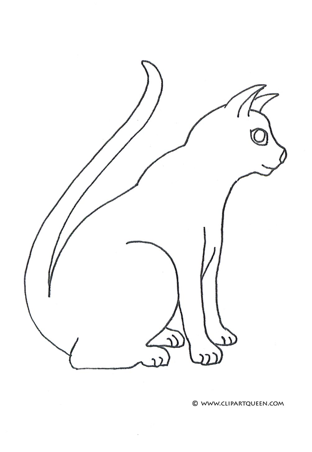 cat coloring pages beautiful cat profile