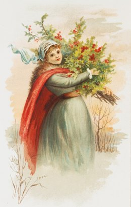 woman in winter time
