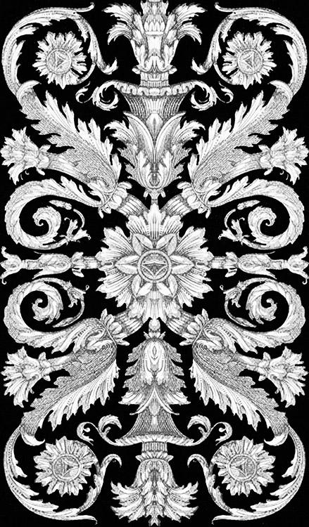 Victorian ornament black background
