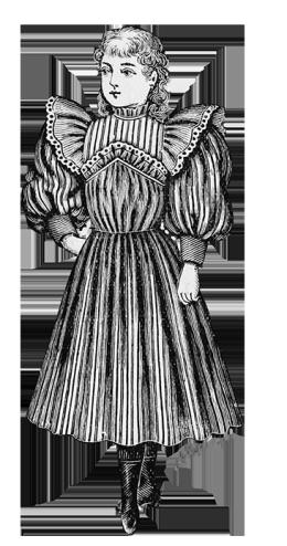 Victorian children's clothing 1896