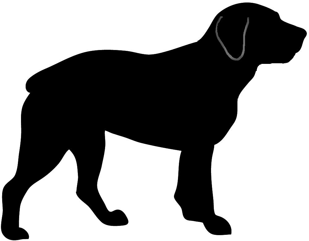 Rottweiler silhouette clipart