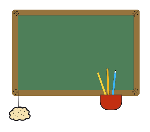 back to school clip art color blackboard