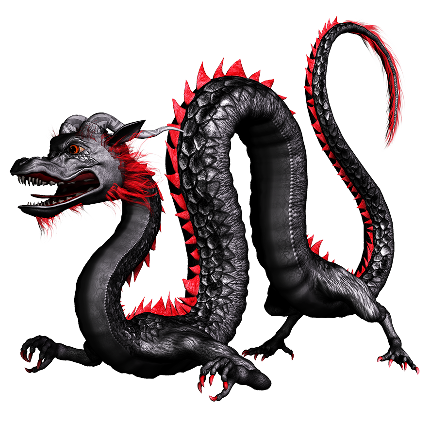 black Chinese dragon