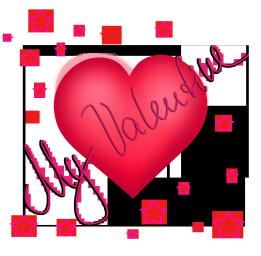 My Valentine heart with stars