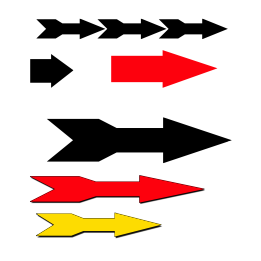 different shapes of arrow signs