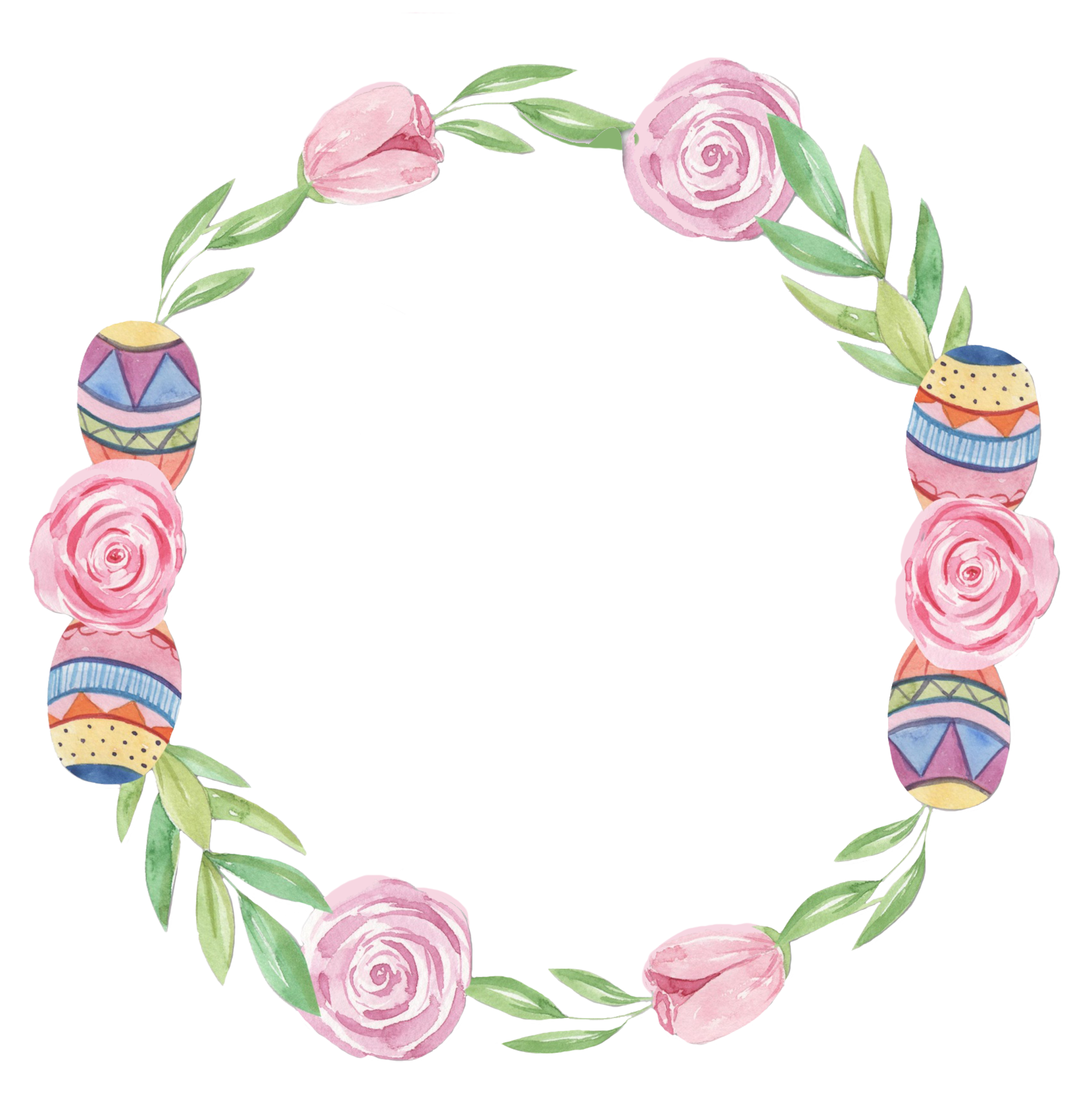 soft colored Easter circle