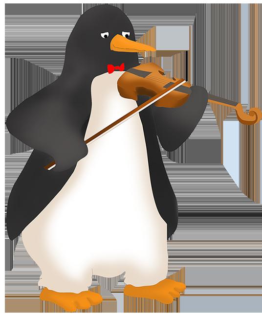 Penguin violinist
