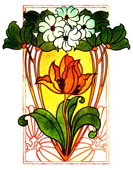 Art Nouveau flower picture