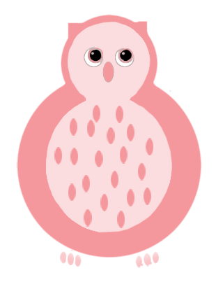 pink owl template