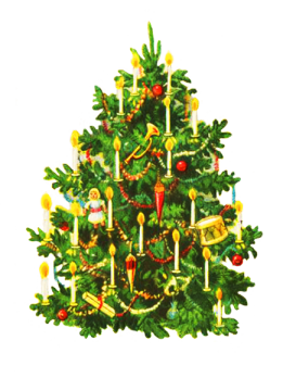 oldfashioned-decorated-christmas tree