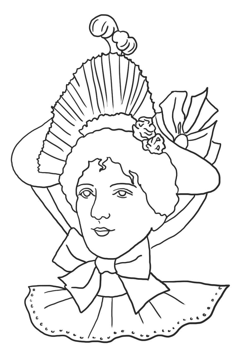 Victorian fashion coloring page