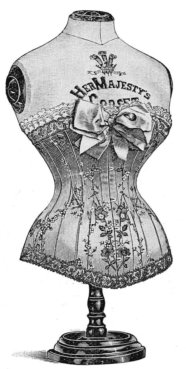 Ladies fashion in lingerie Victorian era