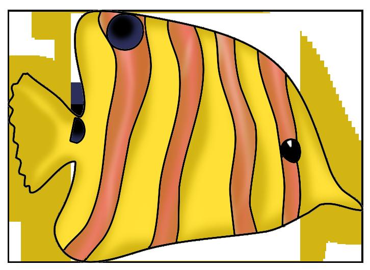 yellow orange fish clip art
