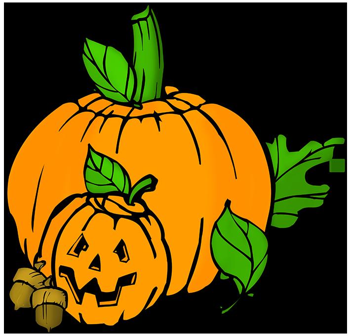 carved pumpkin heads