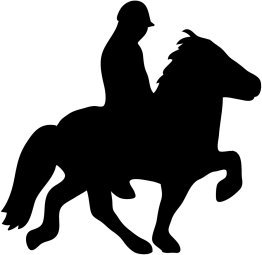 horse with rider silhouette