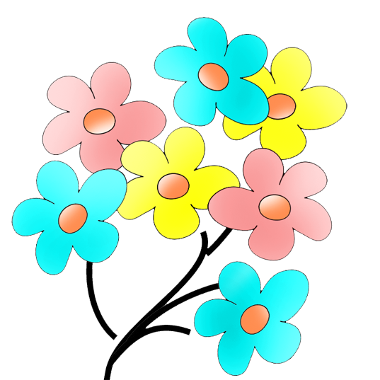 different flower drawings