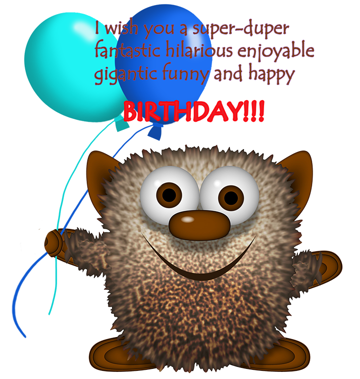 monster birthday clipart greeting for boys