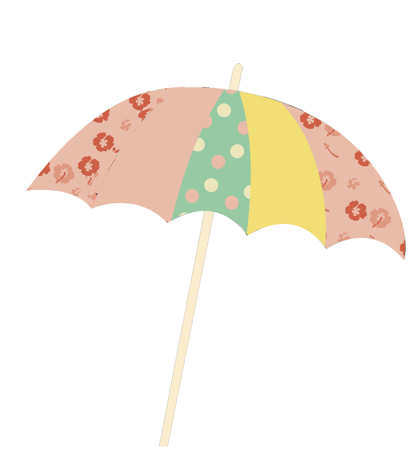 umbrella clipart with pattern