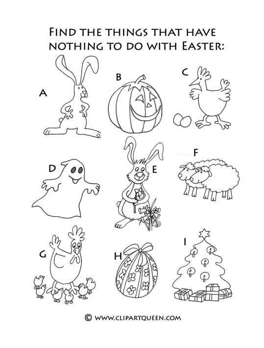 Easter activities drawing