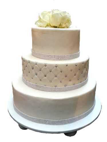White wedding cake picture