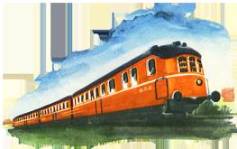 vintage train image