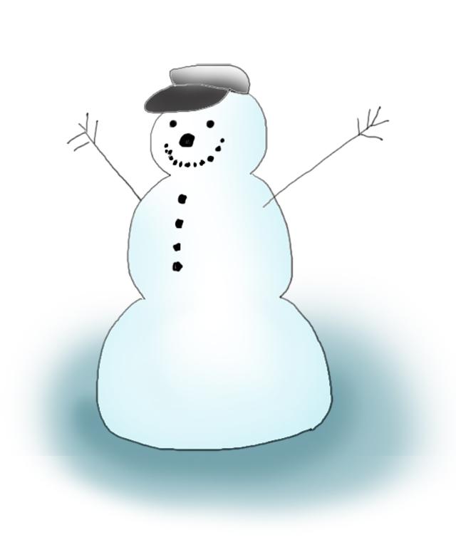 happy snowman clipart