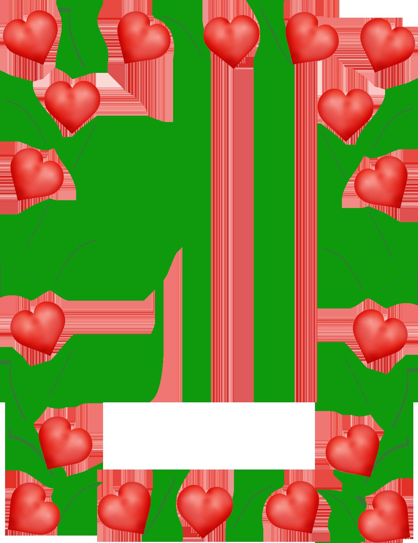 Valentine love hearts for frame