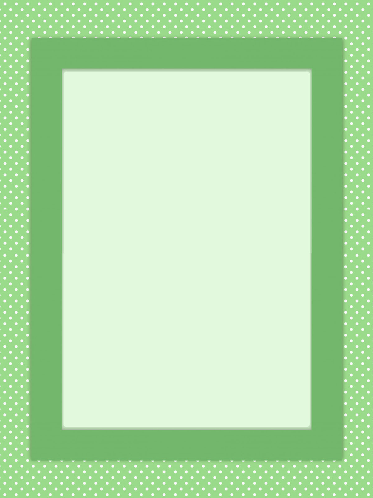 green spotted frame