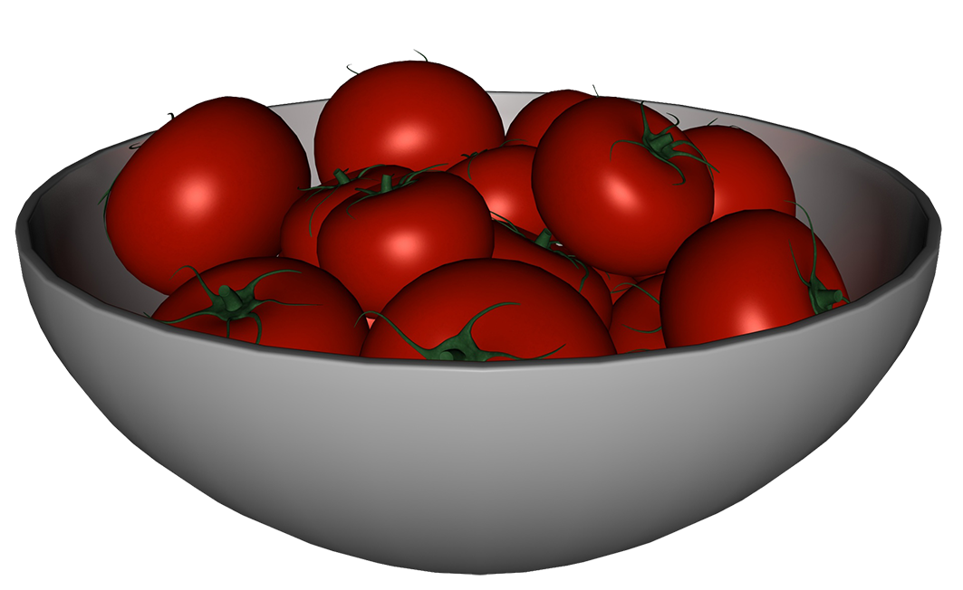 Bowl of tomatoes clipart