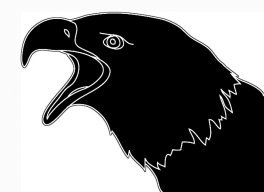 silhouette of screaming eagle