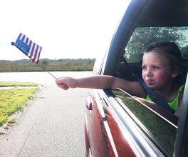 little girl celebrating 4th of July