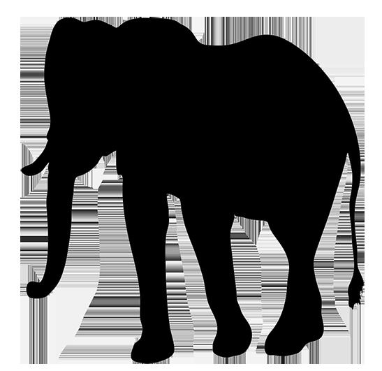 elephant silhouette clipart
