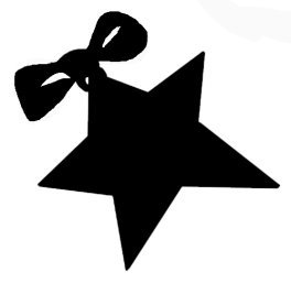 christmas star with ribbon and bow
